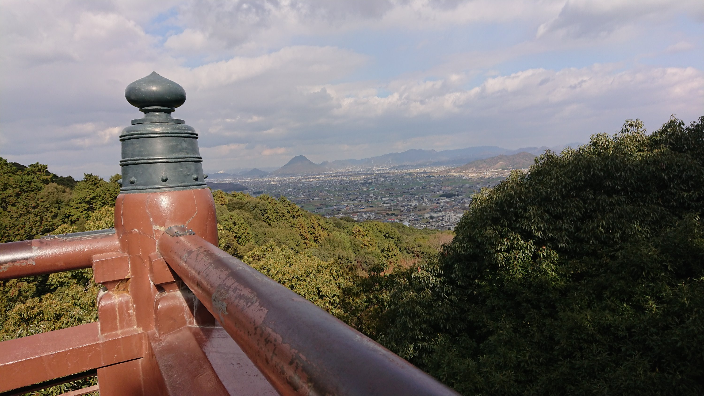 こんぴらさん子連れで階段に登ったときの本宮からの景色